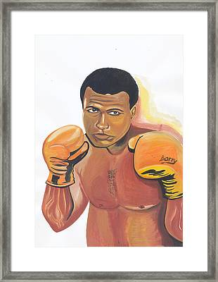 Framed Print featuring the painting Mohammed Ali by Emmanuel Baliyanga