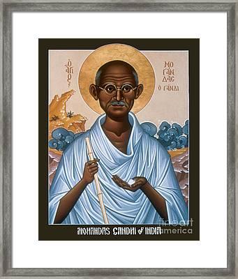Mohandas Gandhi - Rlmog Framed Print by Br Robert Lentz OFM