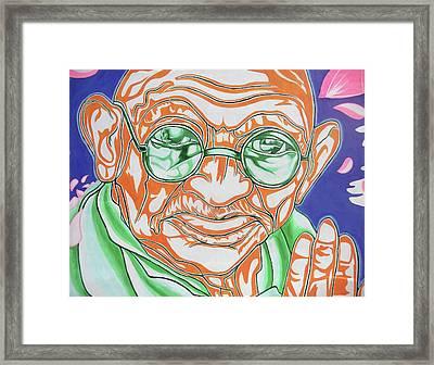 Framed Print featuring the photograph Mohandas Karamchand Gandhi  by Juergen Weiss