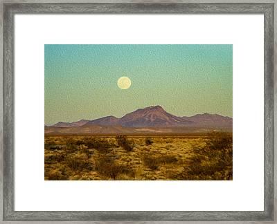 Mohave Desert Moon Framed Print