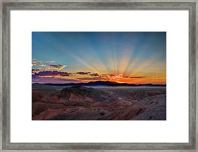 Mohave Sunrise Framed Print by Mark Dunton