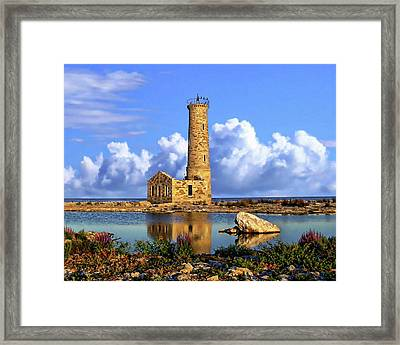 Mohawk Island Lighthouse Framed Print by Anthony Dezenzio