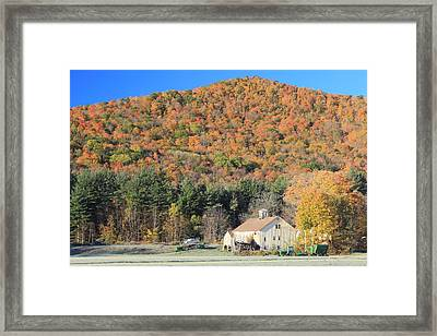 Mohawk Trail Fall Foliage And Farm Framed Print
