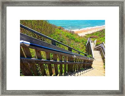 Mohegan Bluffs In Rhode Island Framed Print