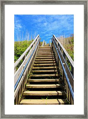 Mohegan Bluffs Framed Print