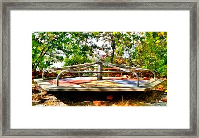 Framed Print featuring the painting Mohegan Lake Merry-go-round by Derek Gedney