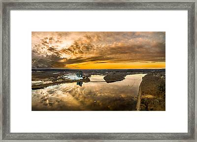 Framed Print featuring the photograph Mohegan Sun Sunset by Petr Hejl