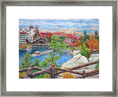Mohonk Fall View From Cliffs Framed Print by Mira Fink