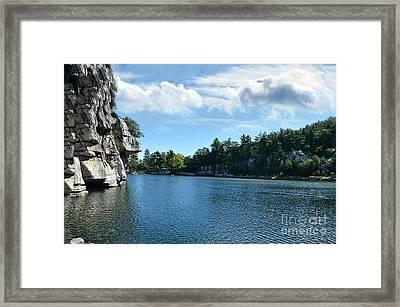 Mohonk Lake Framed Print by Judy Palkimas