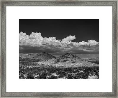 Mojave 020 Bw Framed Print by Lance Vaughn