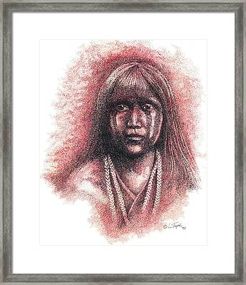 Mojave Girl Framed Print