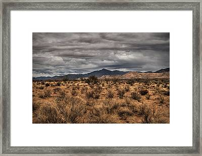Framed Print featuring the photograph Mojave Landscape 001 by Lance Vaughn