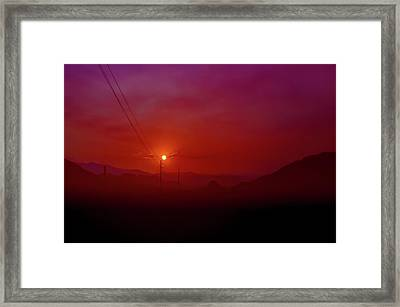 Mojave Sunrise Framed Print by Mark Dunton