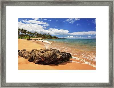 Mokapu Beach Maui Framed Print by James Eddy
