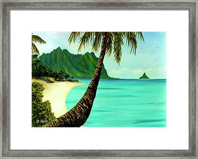 Mokolii Chinamans Hat Koolau Mountains #81 Framed Print by Donald k Hall