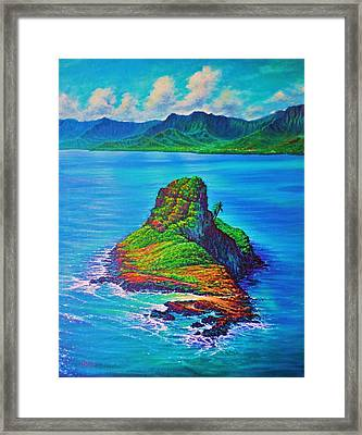 Mokolii Island - China Mans Hat Framed Print