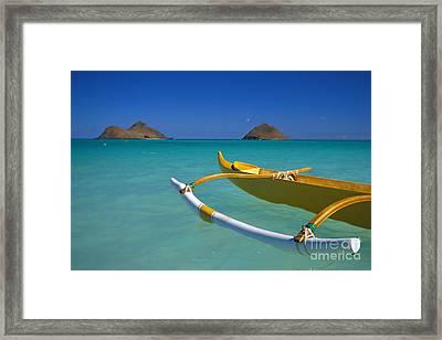 Mokulua Islands, Outrigger Framed Print by Dana Edmunds - Printscapes