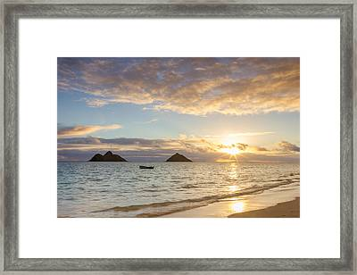 Mokulua Morning Framed Print by Penny Meyers