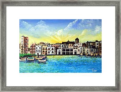 Mola Di Bari 1980 Framed Print
