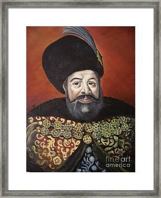 Moldavian Prince Vasile Lupu Framed Print by Sorin Apostolescu