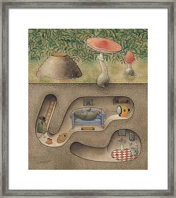 Mole Framed Print by Kestutis Kasparavicius