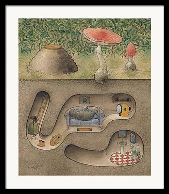 Cellar Drawings Framed Prints