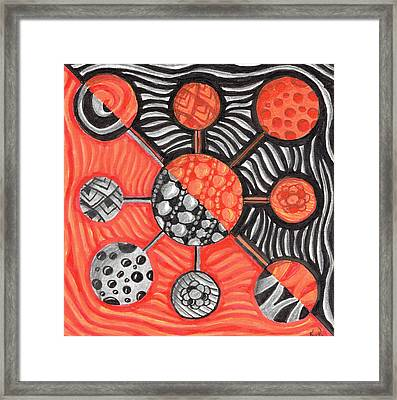 Molecular Confusion Framed Print by Kitty Perkins