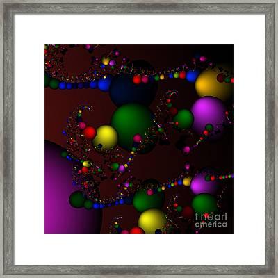 Molecule 119 Framed Print by Rolf Bertram