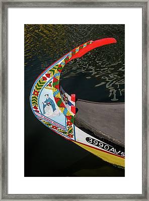 Moliceiro Detail Framed Print by Carlos Caetano