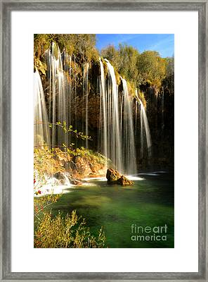 Molino De San Pedro Waterfall Framed Print by RicardMN Photography