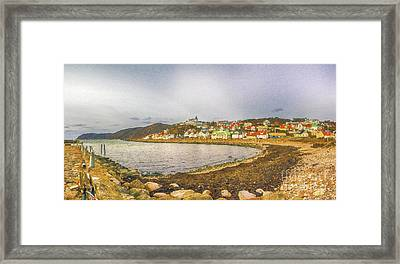 Molle Village Digital Painting Framed Print by Antony McAulay