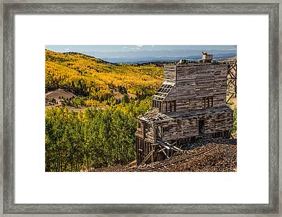 Mollie Kathleen Gold Mine In Autumn Framed Print by Dawn Key