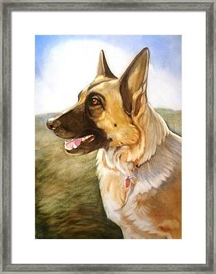 Mollie Framed Print by Marilyn Jacobson