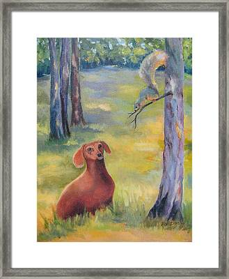 Molly And The Squirrel Framed Print