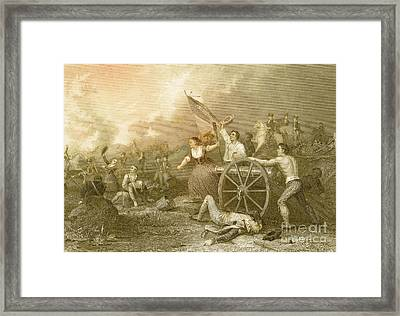 Molly Pitcher At The Battle Of Monmouth Framed Print