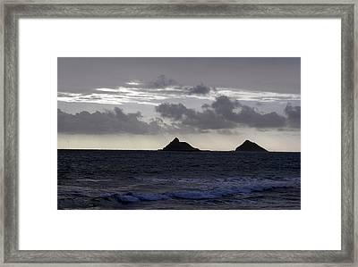 Molokai From Oahu Framed Print