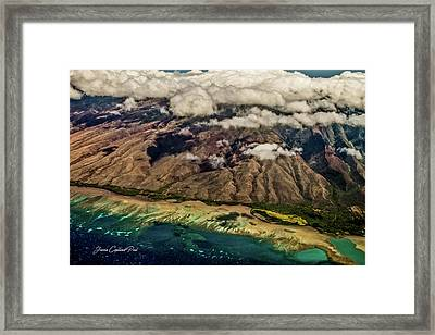 Framed Print featuring the photograph Molokai From The Sky by Joann Copeland-Paul