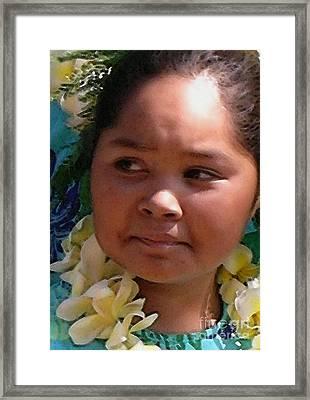 Molokai Kaikamahine Framed Print by James Temple
