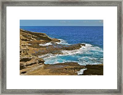 Molokai Lookout 0649 Framed Print by Michael Peychich