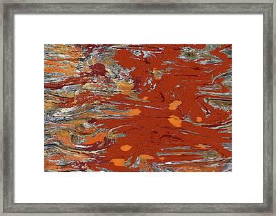 Molten Earth Framed Print