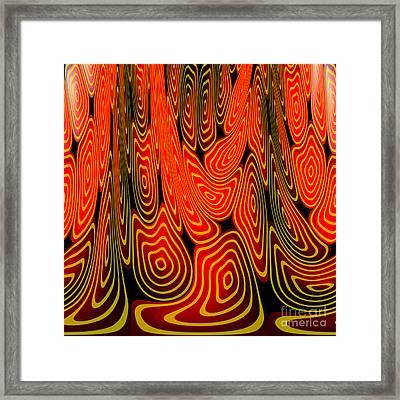 Molten Lava Framed Print by Gaspar Avila