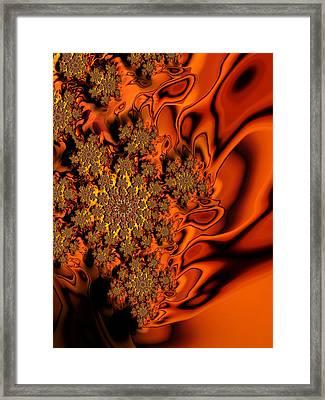 Molten Lava Lace Framed Print by Georgiana Romanovna