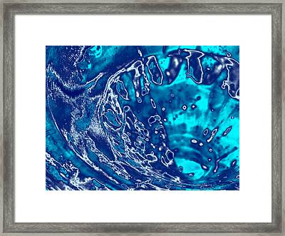 Molten Metal Splash Framed Print