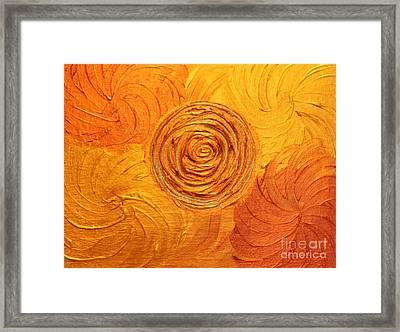 Molten Spiral Framed Print