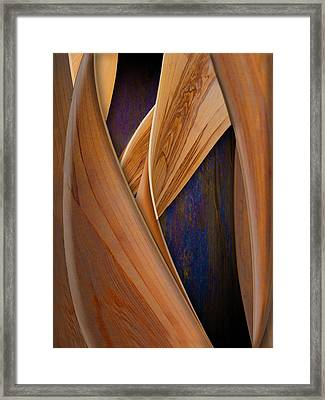 Molten Wood Framed Print