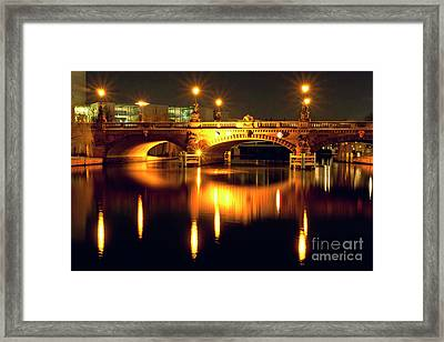 Nocturnal Sound Of Berlin Framed Print
