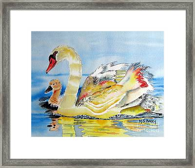 Mom And Baby Framed Print by Maria Barry