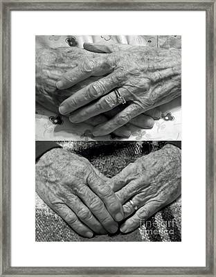 Mom And Dads Hands Framed Print by D Hackett