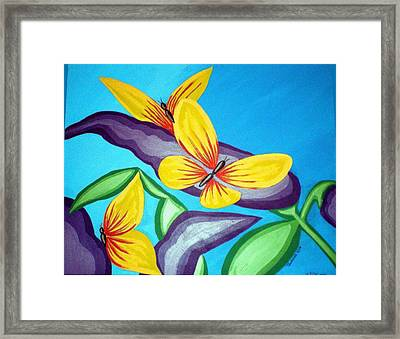 Mom And Me And Butterflies Too Framed Print by Tammera Malicki-Wong