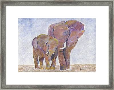 Framed Print featuring the painting Mom And Me by Jamie Frier